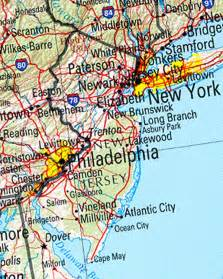 Map Of New York And New Jersey by New Jersey Reference Map