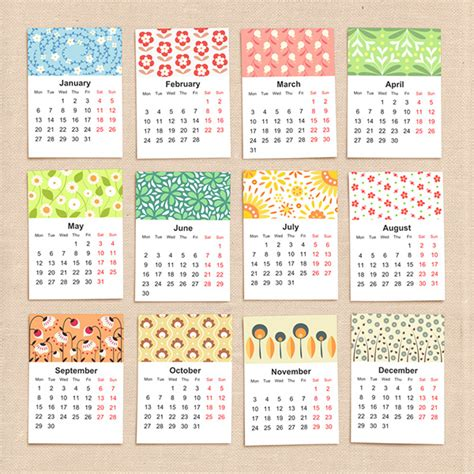 printable calendar graphic design floral calendar 2015 on behance