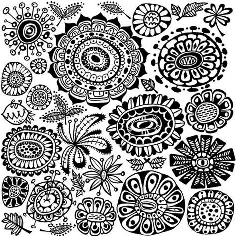 doodle circle of black and white blackwhite circles design details