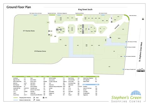 floor planners centre floor plans stephens green shopping centre