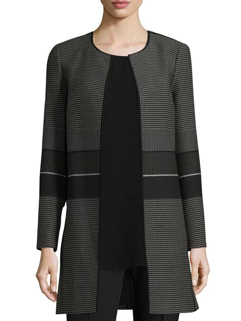 Sweater Blezer Pria 1 lyst lafayette 148 new york pria jacket in black