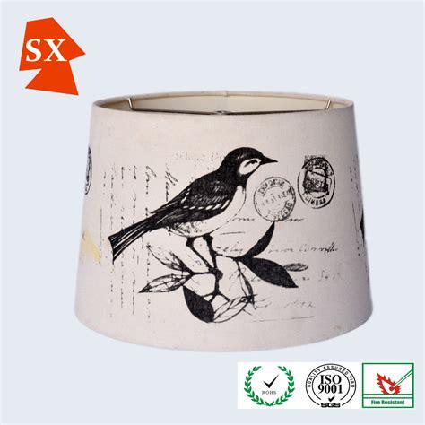 manual vintage drum birds pvc drum hanging light holder