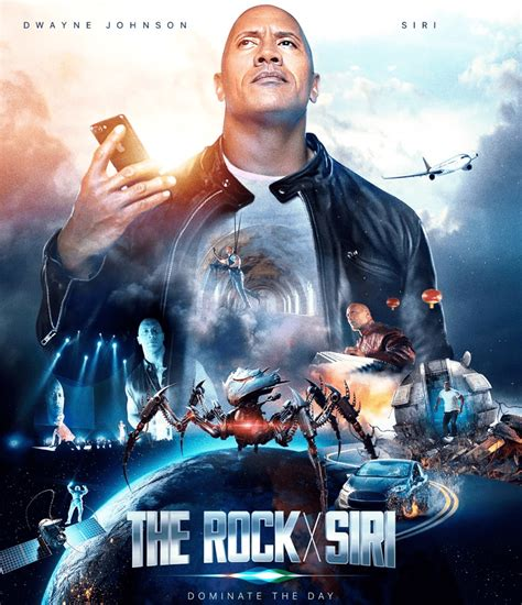 film rock it apple makes a siri movie with dwayne the rock johnson