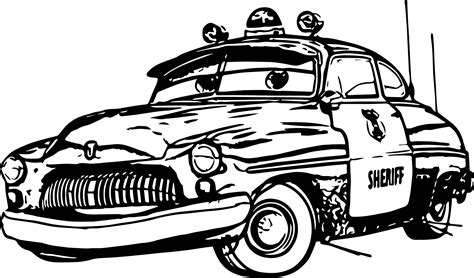 sheriff cars coloring pages any disney cars sheriff coloring page wecoloringpage