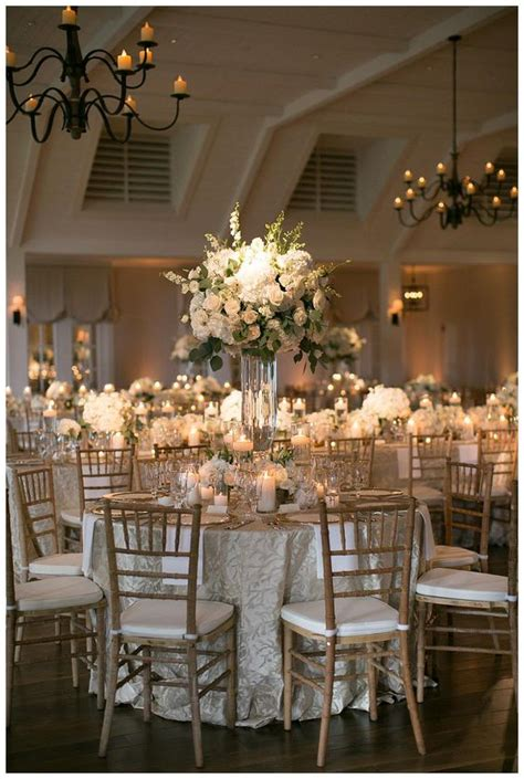 Black And White Wedding Decor by Gold Ivory And White Wedding Reception Decor With White