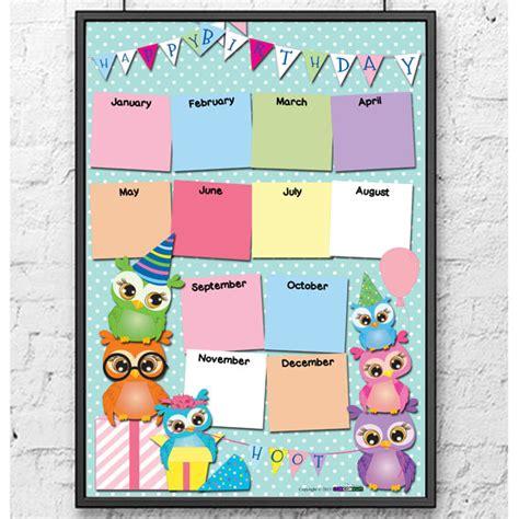 printable owl birthday chart owls birthday calendar chart printable digital download