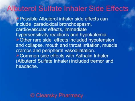 How To Detox From Albuterol by Albuterol Side Effect Maple Suyrup Diet