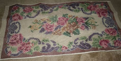 Wool Rug Kits by Vintage Shillcraft Latch Hook Rug Kit 632 Roses 30x50
