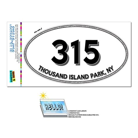 Area Code 315 Lookup Area Code Oval Window Laminated Sticker 315 New York Ny Rome West Stockholm