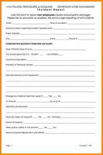 Incident Report Sle Letter In School Incident Report For Nurses Sle 28 Images How To Write