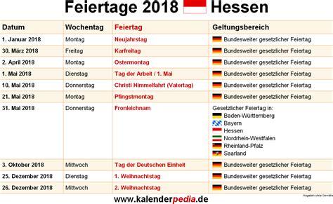 When Is In 2018 Feiertage Hessen 2017 2018 2019 Mit Druckvorlagen