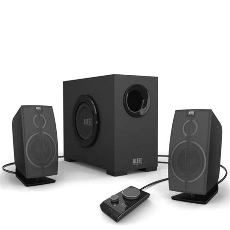 Speaker Subwoofer Komputer altec lansing pc audio system octane 2 1 with 4 inch powered subwoofer electronics thehut