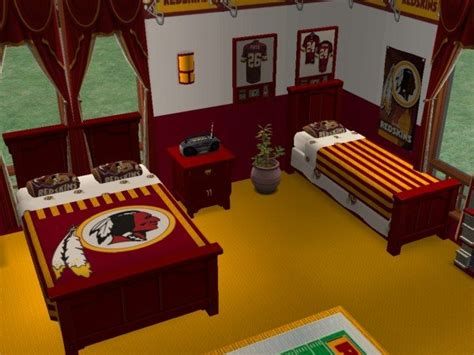 redskins bedroom mod the sims washington redskins bedroom and living room