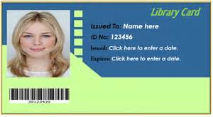 Free Library Card Template by Library Card Template Microsoft Office Templates