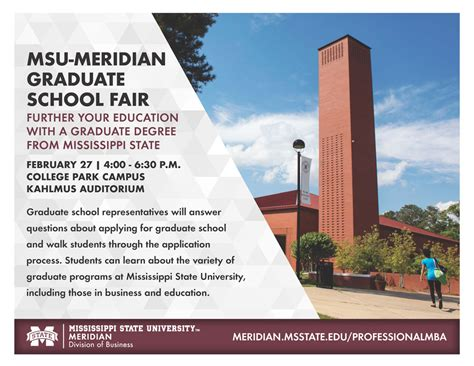 Ms College Mba by Msu Meridian Graduate School Fair Meridian Mississippi