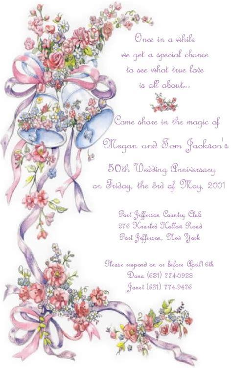 invitation wordings for 50th wedding anniversary 50th wedding anniversary wording for invitation archives
