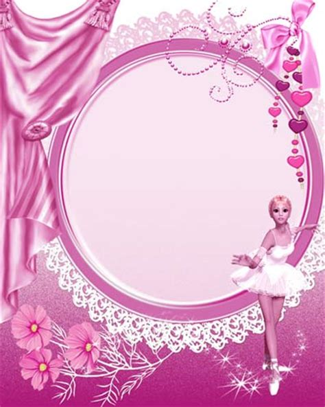 girl frame pink gril frame for photoshop zisya art
