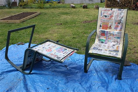 Painting Patio Furniture by Refurbish Outdoor Furniture With Spray Paint Like New 1