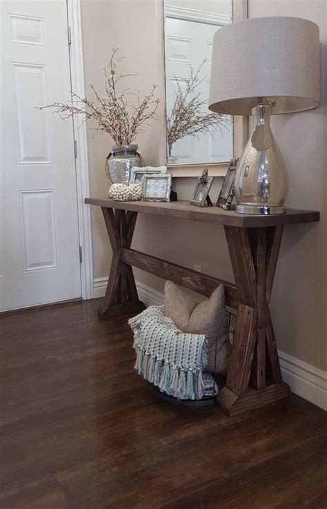 Design House Decor Etsy | rustic farmhouse entryway table by modernrefinement on