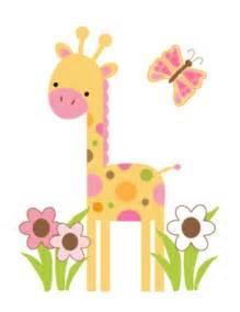 Mod jungle giraffe wall art mural decal baby girl nursery kids 151