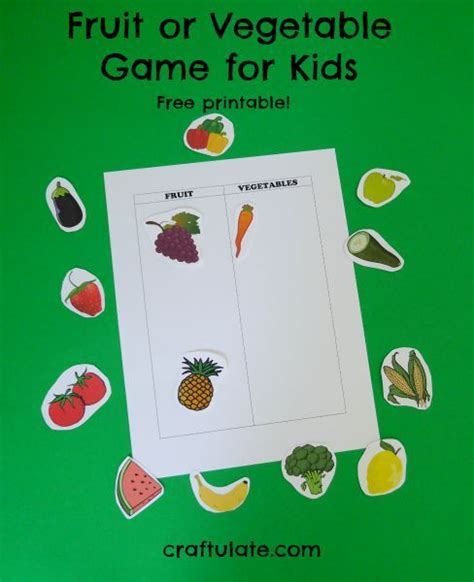 Or Youth Lesson Will This Fruit Or Vegetable Sorting
