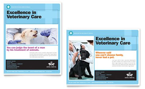 animal hospital poster template word publisher