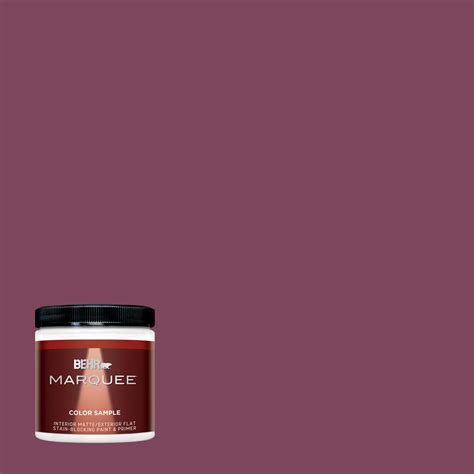 behr marquee 1 gal m110 7 euphoric magenta flat exterior paint 445301 the home depot