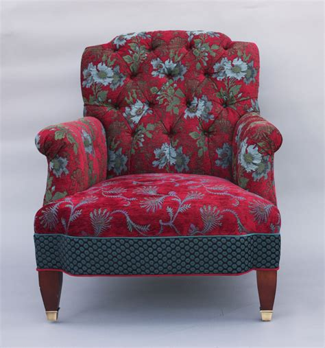 patterned armchairs chelsea chair in red wine by mary lynn o shea upholstered chair artful home