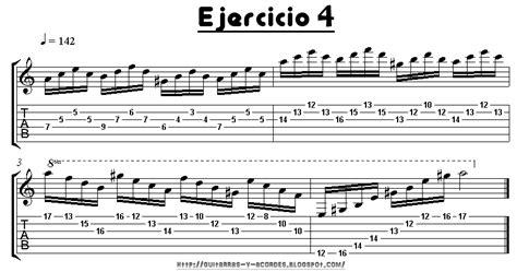 ejercicios de guitarra para guitarras y acordes ejercicios de calentamiento nro 3