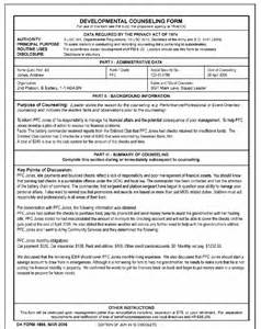 Initial Counseling Template by Blank Da Form 4856 Initial Counseling White Gold
