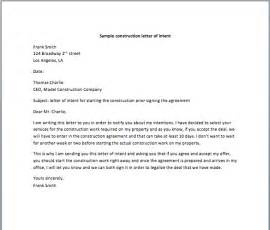 doc 707951 free sample of letter of intent letter of