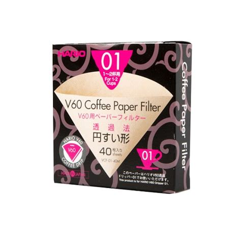 Hario V60 Coffee Paper Filter Kertas Filter Kopi Vcf 01 40w jual hario v60 filter 01 vcf 01 40m murah bhinneka