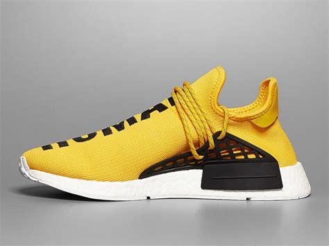 yellow adidas sneakers pharrell adidas nmd human race release date sneaker bar