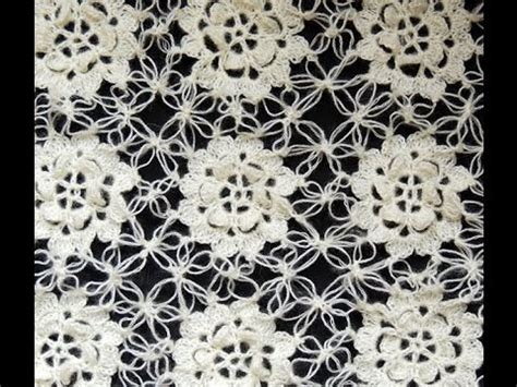 como aprender hacer punto salomon en crochet crochet motivo flor y uniones en punto salom 243 n youtube