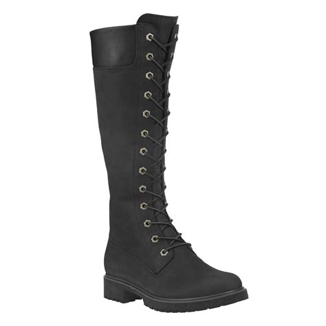 womens black timberland boots s 14 quot premium side zip lace waterproof boots in