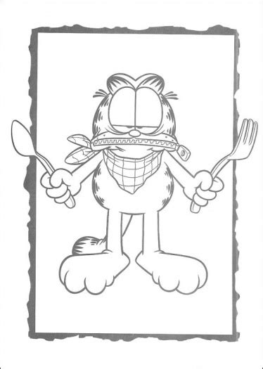 garfield cat coloring pages coloring pages