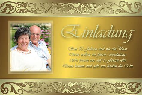 Einladung Zur Goldenen Hochzeit by Einladung Einladungskarten Goldene Hochzeit