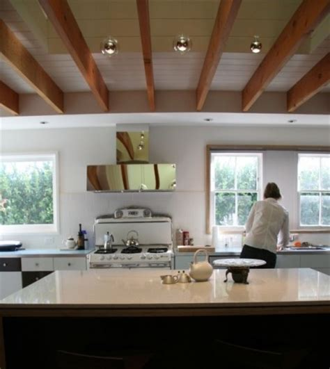 exposed ceiling joists with soffit remodel ideas
