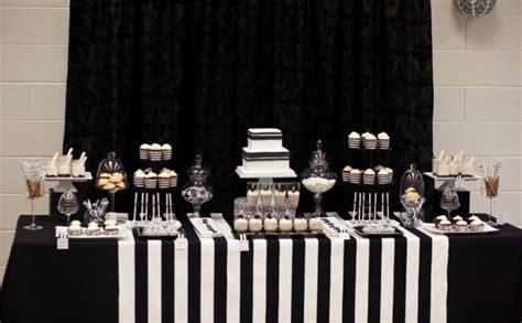 Black And White Dessert Table black and white dessert table 08 happywedd
