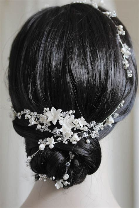 vine braid braided hairstyle for reem acra inspired bridal hair veil for braid