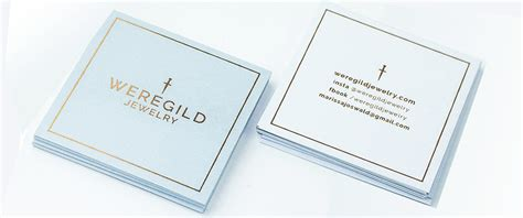Square Gift Card - square business cards with akuafoil spot uv for weregild jewelry 2k printing