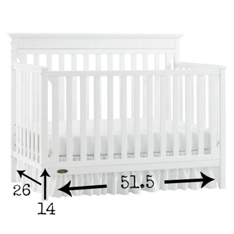 Baby Crib Size Standard by The Easiest Diy Crib Skirt