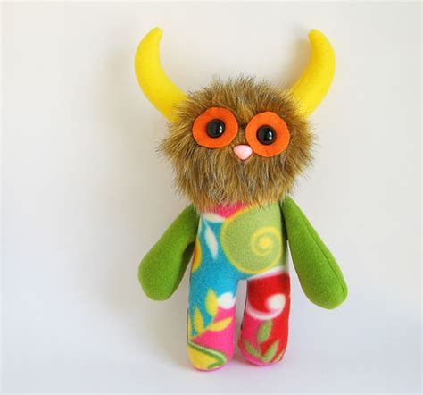 Handmade Stuffed Animals For Sale - stuffed animal handmade by fluffy flowers