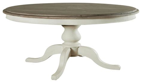 cottage 60 quot pedestal white kitchen table coastal