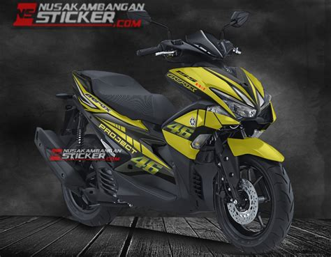 Lu Depan Aerox 155 Original decal sticker motor aerox 155 nusakambangan sticker nusakambangan sticker