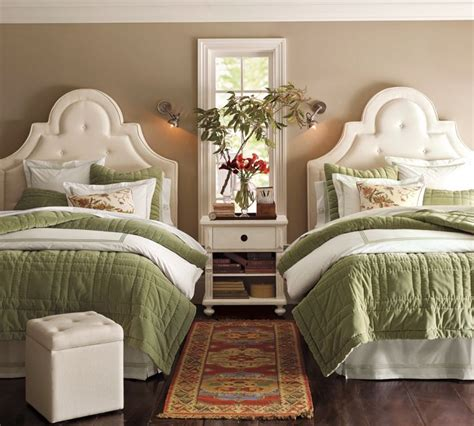 two beds in one one room two beds ideas for guest rooms with double bed