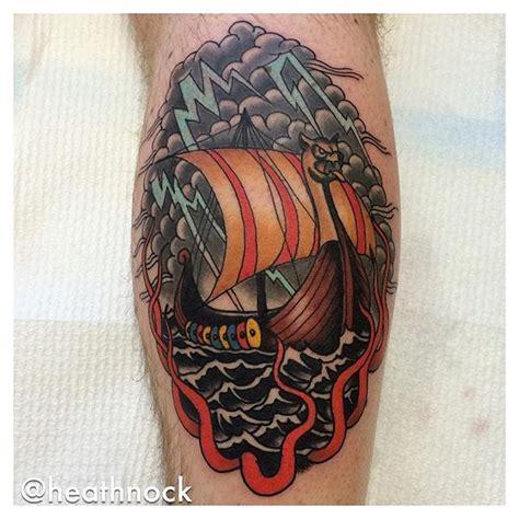 viking longboat tattoo set sail with these 8 viking ship tattoos tattoodo