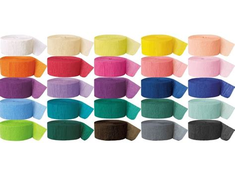 How To Make Paper Streamers - buy 3 rolls crepe streamer crepe paper streamer