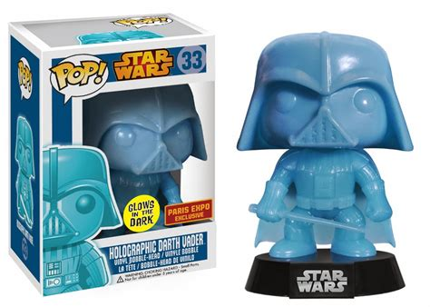 Figure Wars Darth Maul Vader Funko Bobble War 33 holographicdarthvaderparisexpoexclusive popvinyls