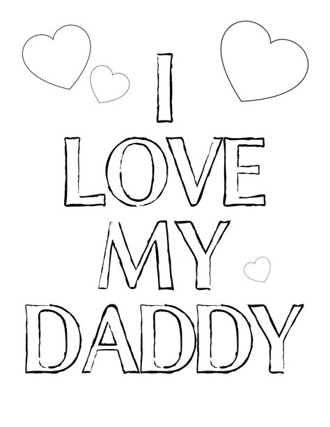 free i love you daddy coloring pages free fathers day printables and more the diy village